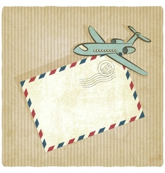 retro background with plane vector image