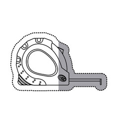 sticker outline tape measure icon tool vector image vector image