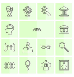 14 view icons vector