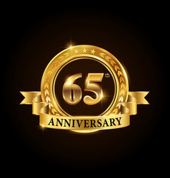 65 years anniversary celebration logotype vector image