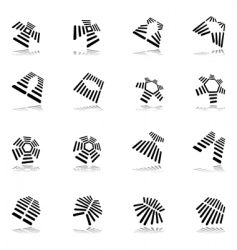 abstract graphic icons vector image