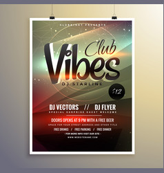 Abstract party music flyer brochure template with vector