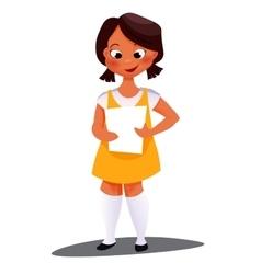 African American girl vector