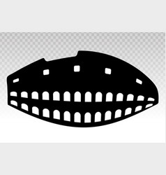 Ancient colosseum rome italy flat icons vector