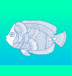 Angel fish color fashion vector