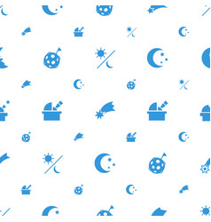 Astronomy icons pattern seamless white background vector