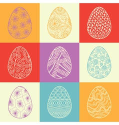 Background from decorative Easter eggs vector image