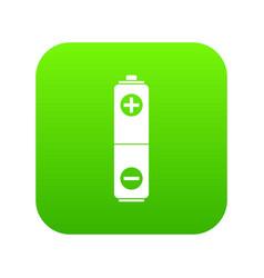 battery icon digital green vector image