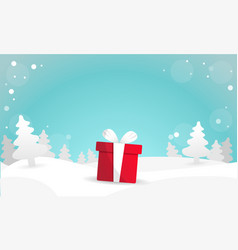best christmas gift background vector image