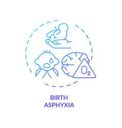 Birth asphyxia concept icon vector