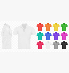 black white and other basic color men t-shirts vector image
