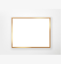 Blank frame with gold border template for a text vector