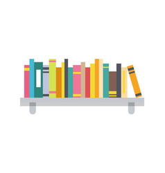 book shelf template color vector image