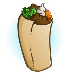 burrito cartoon vector image