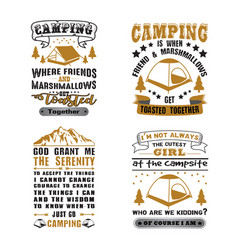 camping quote and saying set good for print design vector image
