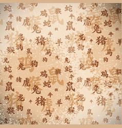 Chinese Zodiac Background vector image