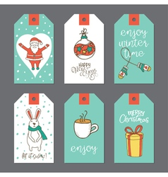 Christmas tags set vector