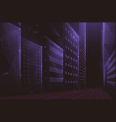 cityscape urban modern building futuristic vector image