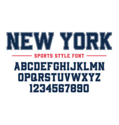 classic college font vintage sport serif font vector image
