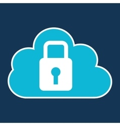 cloud code developing lock system vector image