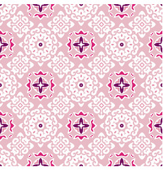 cute pink abstract ethnic vintage seamless pattern vector image