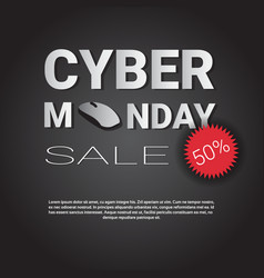 cyber monday super sale template poster with copy vector image