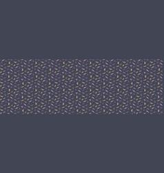 Daisy moody polka dot seamless border pattern vector
