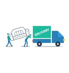 Delivery furniture truck transportation vector image