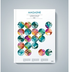 design of Magazine Cover Annual Report Flyer vector image