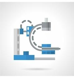 Diagnostic machine flat icon vector