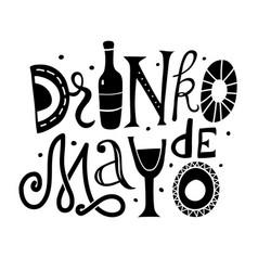 Drinko de mayo lettering vector