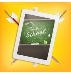 Education school concept with tablet EPS 10 vector