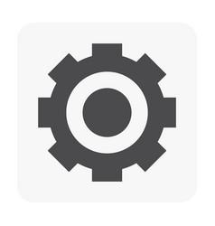 Gear icon black vector