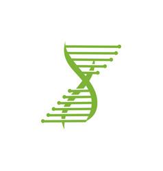 genetic health logo design icon concept vector image