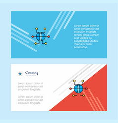 global network abstract corporate business banner vector image