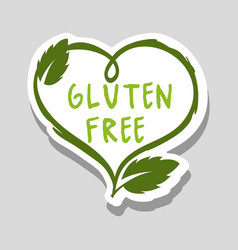 Gluten free message with organic leaves vector