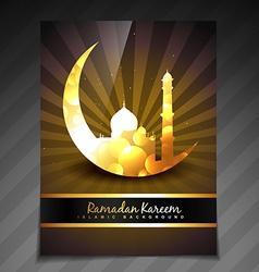 Golden ramadan template vector