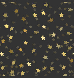 golden stars pattern seamless vector image