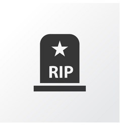 Grave icon symbol premium quality isolated rip vector