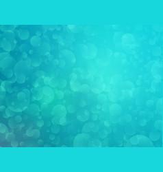green bokeh shining background vector image