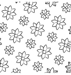 Grunge beauty flower with natural petals vector