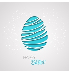 Happy Easter card decorated paper egg vector image