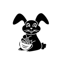Happy easter icon easter hare or rabbit vector