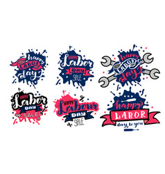 happy labor day concept sets labor day vector image