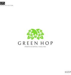 hop logo template vector image