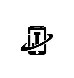 I t phone logo designs for global technology vector