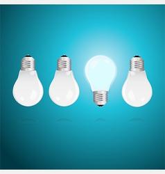 Idea concept with light bulbs vector