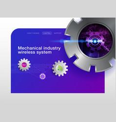 Industry website design vector