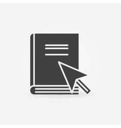 Internet education icon vector