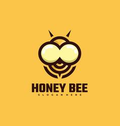 logo honey bee simple mascot style vector image